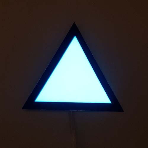 glowing el panel triangle for detroit become human cosplay