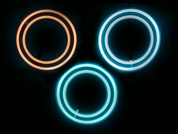 EL Panel Replica Tron ID Disk glowing