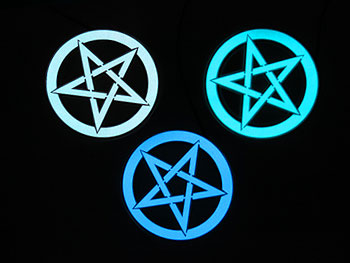 10cm EL glowing panel in the shape of a pentagram