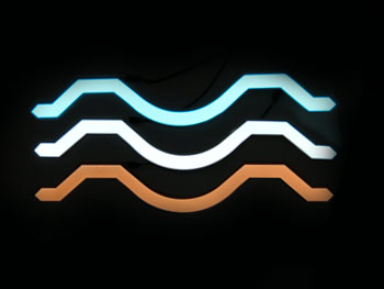 EL foil tape curved glowing shape