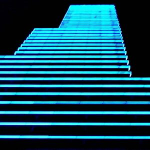 EL Lit stairway as interior design