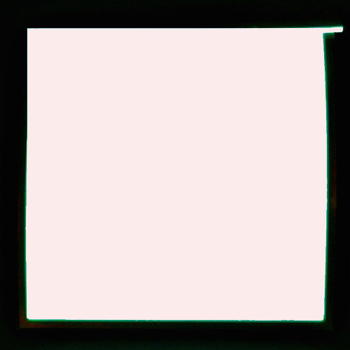 13cm x 13cm square glowing sheet made from el panel