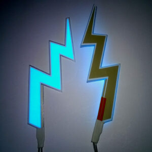 glowing lightning bolts made of el panel.