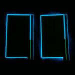 Back of Lit Blue 3 x 5cm EL Panel