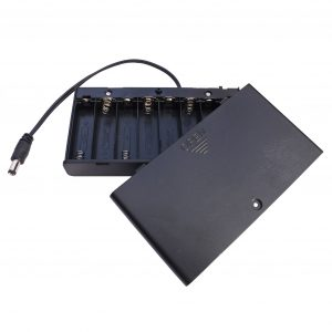 8 x AA enclosed battery box, a great portable power supply for an el driver