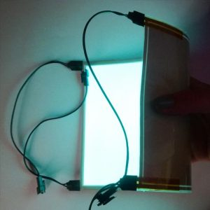 15cm x 40cm glowing rectangular panel with connectors on each corner