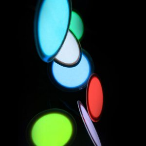 3cm glowing button