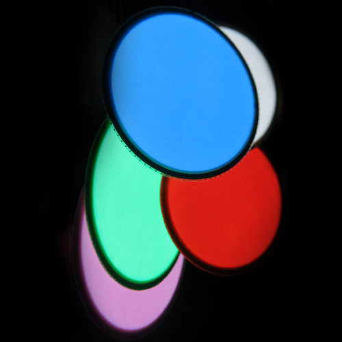 6cm round, glowing electroluminescent shape. Avaialbel in many colours
