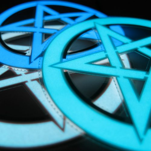 10cm pentagram glowing electroluminescent shape