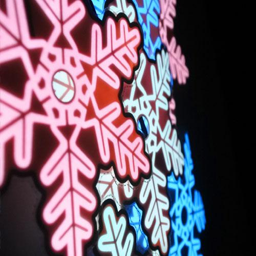 Glowing snowflakes