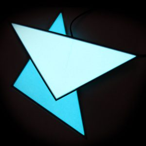 Glowing triangles