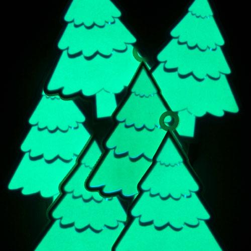 glowing el christmas trees