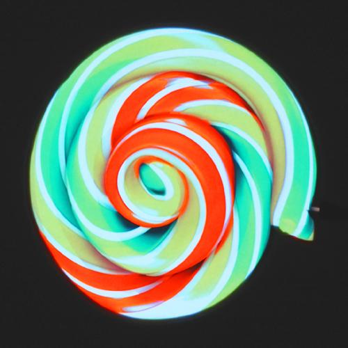 glowing candy swirl