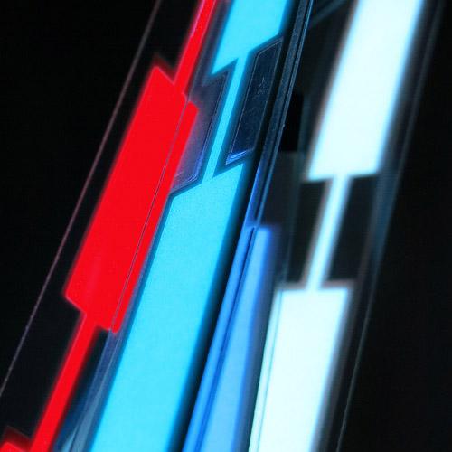 1.5x 20cm glowing el tape or glowing ribbon