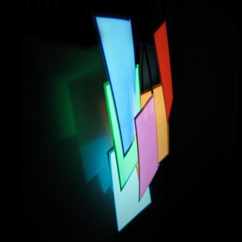 3 x 5cm glowing el panel