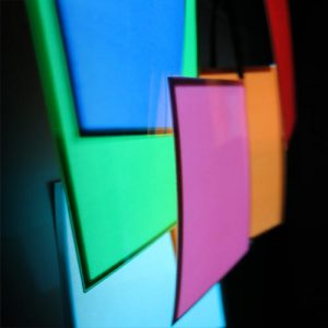 7cm x 11cm rectangular glowing electroluminescent panel