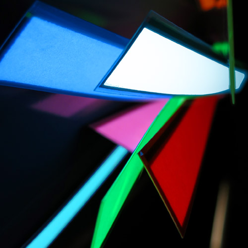2 x 25cm glowing electroluminescent tape
