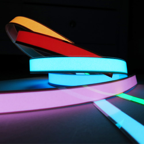 2 x 40cm glowing el tape