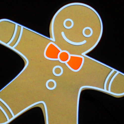 glowing gingerbread man